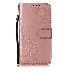 Dandelion mandala flower embossed pu leather flip card multi-function anti-fall phone case for Apple 2019 three new models for iphone 6.1