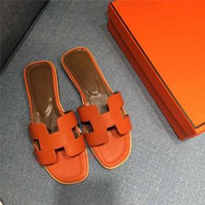 Hermes flip flop Clássico chinelos luxuoso da mulher da praia do verão Xshfbcl Chefe Chinelos desenhos animados Designer de couro liso mulher sapatos Hotel Bath chinelos Grande