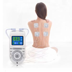 12 Modi Tens Machine Unit mit 4 Elektrodenpads zur Schmerzlinderung bei Pulsmassagen EMS Muskelstimulation Tens Electroestimulador