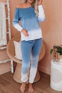 Sommer-freies für Pyjamas Tiedye für Damen Crew Neck Tie Dye Pyjama Short-Sets Set Abbindebatik Weibliche Nachtwäsche Tiedye Blumendruck Bwkf