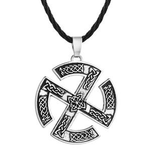 Huilin 주얼리 Valknut Slavic Talisman Gromovik 펜던트 Gorjus Rodimich 바이킹 쥬얼리 목걸이 Nordic Talisman Necklace