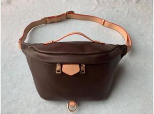 2020 más nuevo hombro de la manera Stlye famoso Bumbag Cruz cuerpo bolsa de la cintura de color marrón Bolsas Bum unisex cintura Bolsas # M43644