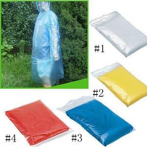 Jetable Raincoat adulte d'urgence étanche Hotte Poncho Voyage Camping doit Imperméable unisexe Un temps d'urgence Rainwear EEA1218-1