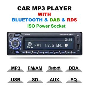 HOTINLEE Car Kit mani libere trasmettitore senza fili dell'automobile di Bluetooth FM lettore MP3 con Bluetooth DAB RDS ISO Presa di alimentazione