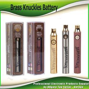 Brass Knuckles 650mAh Oro 900mAh Legno variabile regolabile Tensione Preriscaldare O Penna Bud tocco batteria per 510 Thick olio cartuccia del carro armato