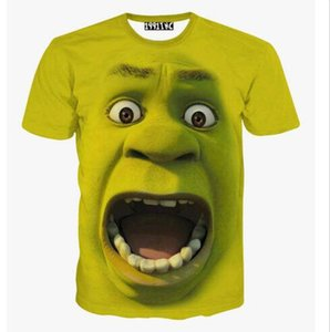 New Men's Women's 3D Green Shrek T shirt round neck tee top Free Shipping