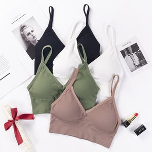 French Lingerie Girl Threaded Strap Beautiful Back Seamless Bra Japanese Sexy Backless Seamless Gathering Bra