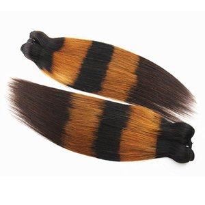 A C Piano Color Straight Human Hair Bundles Brazilian Peruvian Remy Hair 100 %Unprocessed Human Hair Weaves 12 -28 Inch