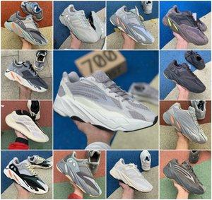 Top Qualité 2020 Kanye West 700 Carbon Bleu Hommes Femmes Sport Chaussures de sport Aimant Inertie V2 Tephra coureur de vague statique Noir Chaussures de course