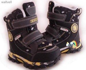 Wallvell Esporta in russo Boys And Girls Snow Boots Davvero lana dentro Bambini Snow Boots Warm impermeabile antiscivolo cotone S200107