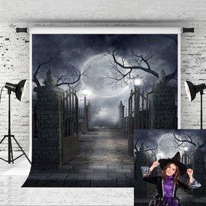 Sonho Backdrops tema de Halloween 5x7ft Background Dark Castle noite para o Halloween Fundo da celebração Photo Studio Prop