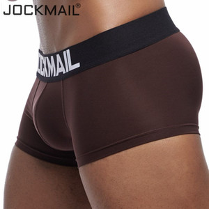 JOCKMAIL New Sexy Mens Underwear Boxer Shorts Hommes Trunks Respirant soie glacée culottes pour hommes sous-vêtement sous-vêtements Cuecas Gay