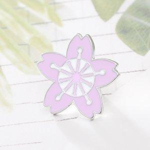 Cherry Blossom розовый цветок брошь капельного знак шелковый шарф пряжки женщин ювелирные изделия аксессуары Рождественский подарок Оптовая