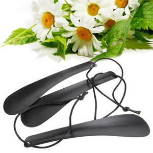 1PCS High quality Professional 19 Cm Black Alloy Shoe Horn Spoon Shape Shoehorn Shoe Lifter Flexible Sturdy Slip