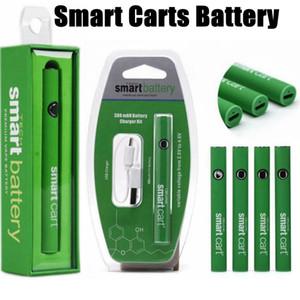 Зеленая батарея SmartCart зеленые умные тележки 380mah подогревают переменное напряжение снизу USB зарядное устройство блистерная коробка Vape Battery Kit