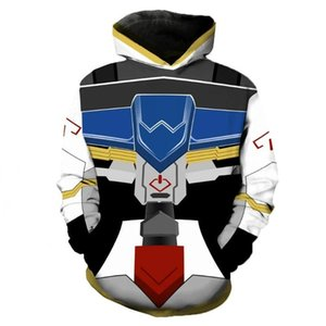 Anime Gundam Cosplay Mobile Suit 3D Printed-Sweatshirt für Männer