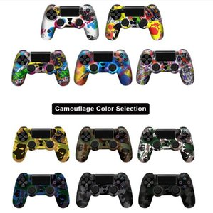 Anti-slip Silicone Cover Skin Case for Sony Play Station Dualshock 4 PS4 Pro Slim Controller+ 2 Thumb Stick Grips Caps