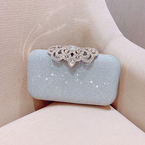Meloke new fashion Sequined Scrub Clutch Women's Evening Bags Bling Day Clutches Gold Wedding Purse Female Handbag MN2019 MX200327