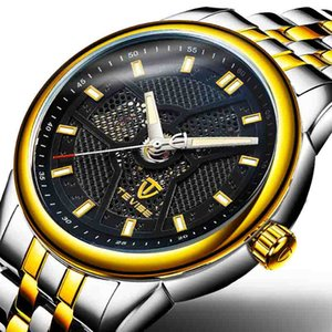 TEVISE fashion leisure contracted calibration Hollow out dot Stainless steel belt luminous Pointer gone men sapphire Mechanical watches
