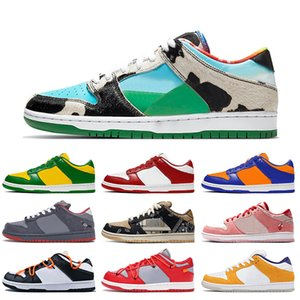 Nike sb dunk air force 1 af1 off white Ben Jerrys Chunky Dunky Travis Scott Low Skate Boarding Hombres Mujeres Zapatillas de deporte Zapatillas SP Brasil Calzado deportivo
