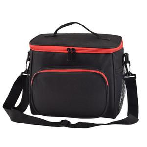 BONAMIE Функция Сумка на плечо для ремня Большой емкости Водонепроницаемый Портативный Пикник Lunch Box Теплоизоляционная сумка-холодильник черный
