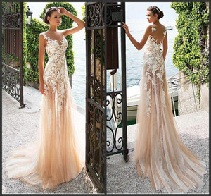 Soirée élégante Robe de cérémonie 2020 Champagne Applique dentelle sirène Robes de bal Robes de cocktail Abendkleider robe de cérémonie