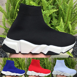 Balenciaga Fashion Speed Trainer High Sock Shoes para mujer hombre 2019 Balck White Prune Designer Sneakers Party Lover Boots Luxury Shoes 36-45