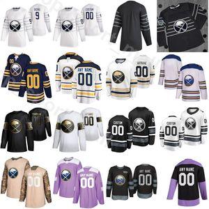 Nombre de encargo 2020 Buffalo Sabres combate el cáncer de hockey sobre hielo 43 Conor Sheary Jersey 13 Jimmy Vesey 62 Brandon Montour 10 Henri Jokiharju