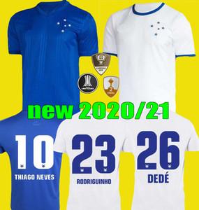 2020 2021 새로운 브라질 리그 크루제 이로 축구 유니폼 (20) (21) 브라질 홈 블루 세 번째 멀리 흰색 FRED 엔리케 축구 유니폼 셔츠