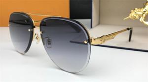 La migliore vendita degli occhiali da sole di protezione modo semplice pilota metal classico semitelaio generoso stile stilista UV400 occhiali di alta qualità 0962