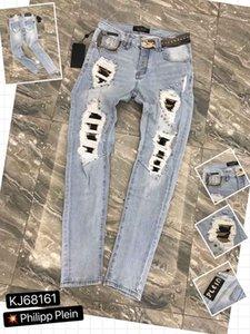 Luxury Designer Mens Jeans D2 uomini Denim Slim jeans blu denim Magro Dan Tirante freddo dei jeans di moda Fori pantaloni 98676