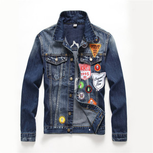 new Men's more labeling Denim Jacket L Studded Letter PABLO Design Spring Jacket Jean Coats Single-breasted size M-XXL