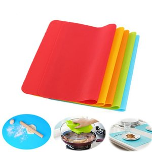 40x30cm Silicone Baking Mats Liner Muiti-function Silicone Oven Mat Heat Insulation Anti-slip Pad Bakeware Kid Table Placemat Decoration Mat