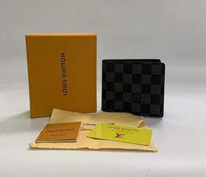 stile 2020 il progettista del mens portafoglio uomini famosi borsa di tela speciali multipla piccolo portafoglio breve bifold con box