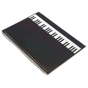 50 Seiten Klavier Manuskript Papier Stab Notation Notebook Spiral Gebunden