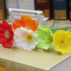 Свадебные искусственные поддельные цветы PU и пластиковые цветы Мини Мак Свадебный букет Свадебные цветы Домашняя вечеринка Украшения
