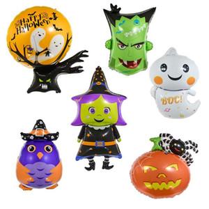 6pcs Halloween Foil Balloons abóbora Gato da aranha do bastão do fantasma balão de Halloween Party Favor Crianças Toy Decoração de Halloween Globos