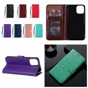 Pour iPhone 12 2020 11 Pro 2019 XR XS MAX 8 7 Retro Crazy Horse Wallet en cuir Samsung Note 20 10 Titulaire Vintage crédit fente COUVERTURE