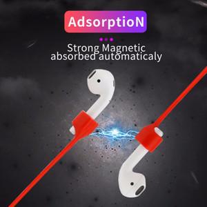 Correa magnética para AirPods pro perdido anti Correa imán Cadena Cuerda de la cuerda del cable de silicona Aire Pod Bluetooth para auriculares AirPod pro3