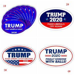10pcs / lot 2020 Donald Trump Araç Plakası Mavi ABD Başkanı Seçim Araç Tampon Çıkartmaları tutun Amerika Seddi Çıkartma Çıkartmaları DBC BH3695