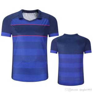 2018 새로운 남자의 배드민턴 테니스 의류 탁구 스포츠 옷 통기성 빠른 건조한 스포츠 정장 BT1803 세트