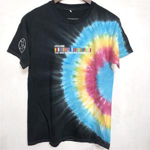Трэвис Скотт AstroWorld фестиваль Run Tie Dye тройника рубашки Мужчины Женщины AstroWorld Streetwear Hip-Hop TRAVIS SCOTT футболки Y200104