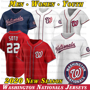 Washington Stephen Strasburg Jersey Juan Soto Max Scherzer Trea Turner Anthony Rendon Ryan Zimmerman 2020 nuevas camisetas de la temporada