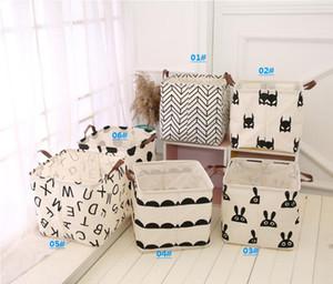 Rangement des vêtements Bucket 6 Styles Folding panier à linge pour enfants Jouets Mêle stockage Barrel Pliable blanchisserie Organisateur Porte-Box