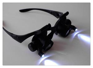 1pc Occhiali Tipo Lente d'ingrandimento 25X Occhio Gioielli Watch Repair 2 LED Lights Loupe Microscope