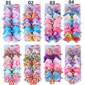 48color Ins jojo Siwa filles pinces à cheveux sirène arcs clips bébé BB bande dessinée jojo Siwa arcs enfants barettes cheveux accessoires A8103