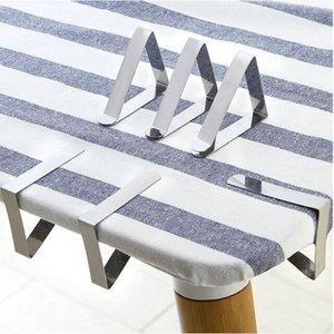 6cm Triangle en acier inoxydable Pinces de mariage Promenade Nappe Table Holder couverture clip Promenade du Conseil Round Clips stables