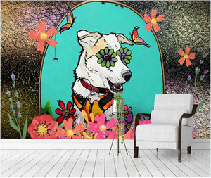 Custom wall stickes photo Zodiac cartoon dog background wall decoration painting canvas pictures home decor murals wallpaper for walls 3 d
