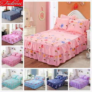 High Quality Soft Cotton Bed Linen Adult Kids Girl Bed Skirts Single Twin Full Queen King Size Bedspreads 1.5m 1.8m 2m Cover