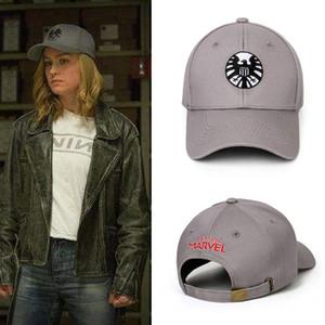 Captain Marvel Carol Danvers Cosplay Caps Unisex regolabile Hip Hop Cappello ricamato Snapback Agents of S.H.I.E.L.D. cappelli